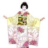Geisha girl Royalty Free Stock Image