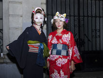 Geisha girls costumes Royalty Free Stock Photography