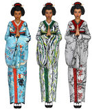 Geisha girls Stock Photography