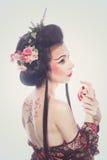 Geisha hermoso Foto de archivo libre de regalías