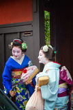 Geisha i Gion Arkivbilder