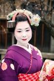Geisha im traditionellen Kimono Stockfoto