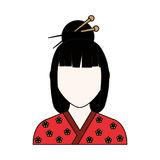 Geisha japanese woman. Icon vector illustration graphic design Royalty Free Stock Images