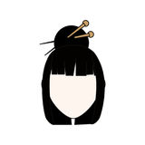 Geisha japanese woman. Icon vector illustration graphic design Stock Photography