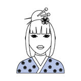 Geisha japanese woman. Icon vector illustration graphic design Royalty Free Stock Photos