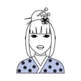 Geisha japanese woman Royalty Free Stock Photos