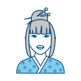 Geisha japanese woman Stock Photo