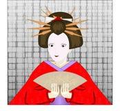 Geisha japonés Imagen de archivo libre de regalías