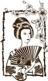 Geisha japonés tradicional Fotos de archivo