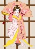 Geisha japonais illustration libre de droits