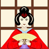 Geisha japonais traditionnel Image stock