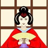 Geisha japonais traditionnel illustration stock