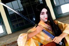 Geisha in kimono Stock Photography