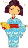 Geisha in kimono Stock Photos
