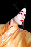 Geisha in kimono Royalty Free Stock Photography