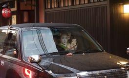 Geisha a Kyoto, Giappone fotografia stock libera da diritti