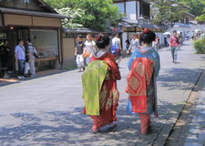 Geisha in Kyoto Japan Stock Photo