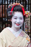 Geisha in Kyoto, Japan. Geisha is traditional Japanese female entertainer. They can be spotted mostly in Gion district in Kyoto stock photos