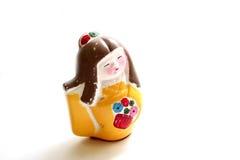 geisha målad statuette royaltyfri bild