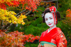 Geisha - Maiko in Gion District in Kyoto, Japan Stock Images