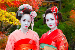 Geisha - Maiko in Gion District in Kyoto, Japan Stock Photography