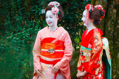 Geisha - Maiko in Gion District in Kyoto, Japan Royalty Free Stock Photos