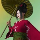 Geisha Melissa Su Foto de archivo libre de regalías