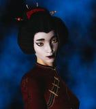 Geisha Portrait Royalty Free Stock Photography
