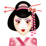 Geisha portrait Stock Photography