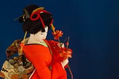 Geisha-Puppe lizenzfreies stockfoto