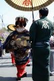 Geisha que recorre Foto de archivo