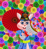 Geisha rat Royalty Free Stock Images