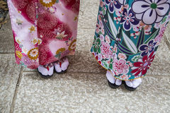 Geisha`s Traditional Sandals Stock Photography