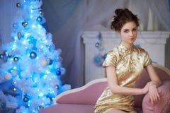 Geisha and New Year royalty free stock photography
