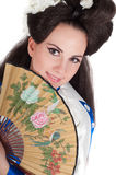 Geisha style young woman Royalty Free Stock Photo
