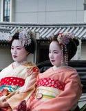 Geisha sul risciò Fotografia Stock Libera da Diritti