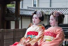 Geisha sul risciò Immagine Stock Libera da Diritti