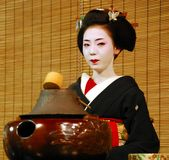Geisha tea ceremony Royalty Free Stock Images