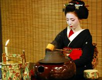 Geisha tea ceremony Stock Photos