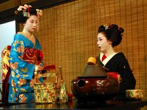 Geisha tea ceremony Royalty Free Stock Photos