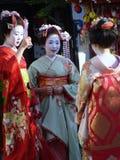 Geisha tres Imágenes de archivo libres de regalías