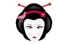 Geisha triste Images stock
