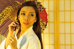 Geisha umbrella Stock Photo