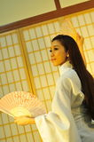 Geisha umbrella Stock Images