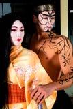 Geisha und Samurai Stockbilder