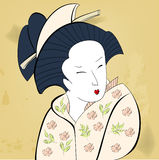 Geisha on vintage background Royalty Free Stock Photography