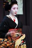 Geisha walking Royalty Free Stock Image