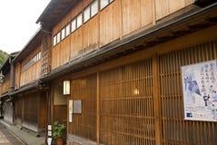 Geishafjärdedel, Kanazawa, Japan royaltyfri foto