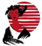 Geishaillustratie kimono Royalty-vrije Stock Afbeelding