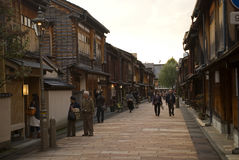 Geishakwart, Kanazawa, Japan Stock Afbeelding